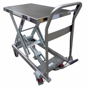 Picture of 100Kg Stainless Steel Scissor Lift Table 1220mm Max Height