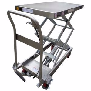 Picture of 350Kg Stainless Steel Scissor Lift Table 1295mm Max Height